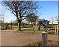 SU8399 : Horse Head, Westcroft Stables by Des Blenkinsopp