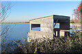 SP9213 : The Bird Hide at Startops Reservoir by Chris Reynolds