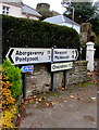 SO3700 : Distances from central Usk, Monmouthshire by Jaggery