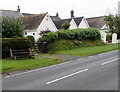 SN1303 : Roadside bench in the south of Saundersfoot by Jaggery