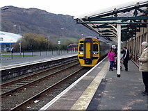 SH5639 : An Arriva Wales train arriving at Porthmadog by John Lucas