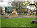 TQ3276 : New play area for Camberwell Green, London by Robin Stott
