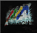 TG2308 : Light projections at Norwich Castle by Evelyn Simak