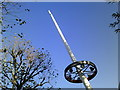 TQ3080 : White pole pointing skywards outside the Royal Festival Hall by Peter S