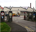 ST4836 : Clarks Village loading bay entrance, Street, Somerset by Jaggery