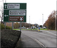 SO9568 : Directions sign near Buntsford Gate Business Park, Bromsgrove by Jaggery