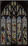 TL1998 : East window, St John the Baptist church, Peterborough by Julian P Guffogg