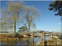 SO8844 : Replica Chinese Bridge, Croome Park by Philip Halling