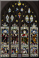 TL1998 : Creche stained glass window, St John the Baptist church, Peterborough by Julian P Guffogg