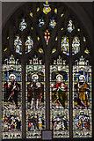 TL1998 : Creche stained glass window, St John the Baptist church, Peterborough by Julian P Guffogg