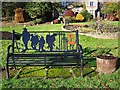 NY5361 : WW1 memorial bench at The Sands by Rose and Trev Clough