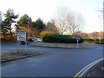 NS4865 : Roundabout on Sanderling Road by Thomas Nugent