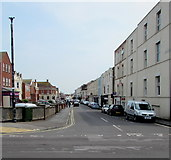 ST3049 : East along College Street, Burnham-on-Sea by Jaggery
