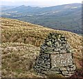 SK0984 : Memorial Cairn above Dalehead by Andy Stephenson