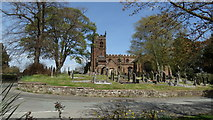 SJ7744 : Madeley, Staffs - All Saints Church by Colin Park