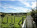 NZ0557 : View east to Dere Street Farm by Robert Graham