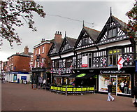 SJ6552 : Cancer Research UK charity shop, Nantwich by Jaggery