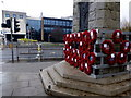 H4572 : Poppy wreaths, Omagh by Kenneth  Allen