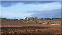 NH6454 : Ploughed field below Balnakyle by Julian Paren