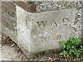 TR3750 : War Department boundary stone, Walmer Castle by Rose and Trev Clough