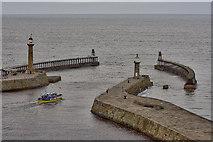 "NZ8911 : The ""Summer Queen� leaving Whitby harbour by Mick Garratt"