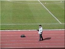 NT2774 : Photographer, Meadowbank Stadium by Richard Webb