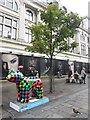 NZ2464 : Great North Snowdog Hound's Tooth, Northumberland Street, Newcastle upon Tyne by Graham Robson