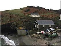 SW9339 : Portloe slipway by Jonathan Hutchins
