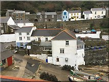 SW9339 : Portloe: slipway, hotel and houses by Jonathan Hutchins