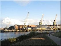 NZ4057 : Riverside footpath, Sunderland by Graham Robson