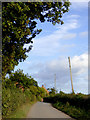 SJ6642 : Bagley Lane south of Audlem in Cheshire by Roger  Kidd