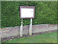 TG1115 : Weston Longville Village Notice Board by Adrian Cable