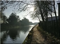 SK5803 : Path along the River Soar by Mat Fascione
