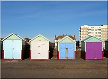 TQ2704 : Beach Huts 360-364, Western Esplanade, Hove by Simon Carey