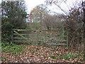 SJ5063 : Gated field entrance off Leadgate Lane by JThomas