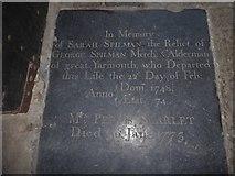 TF6120 : St Nicholas' Chapel, King's Lynn: memorial (17) by Basher Eyre