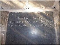 TF6120 : St Nicholas' Chapel, King's Lynn: ledger slab (I) by Basher Eyre