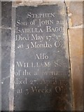 TF6120 : St Nicholas' Chapel, King's Lynn: ledger slab (III) by Basher Eyre