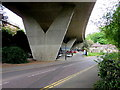 SZ0891 : V-shaped bridge supports, Bournemouth by Jaggery