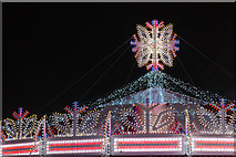 TQ2880 : Top of Carousel at Winter Wonderland, Hyde Park, London by Christine Matthews