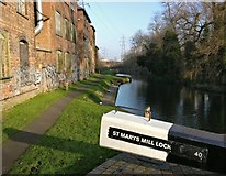 SK5702 : St Mary's Mill Lock 40 by Mat Fascione