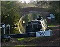 SP5699 : Narrowboat next to Blue Bank Bridge No 102 by Mat Fascione