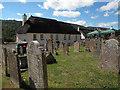 SX8189 : St Mary's church, Dunsford -  churchyard memorials by Stephen Craven