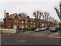 TQ2788 : Housing terrace, Kenwood Road, Highgate by Julian Osley