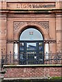 NY4055 : Door, former Electric Lighting Station by Rose and Trev Clough