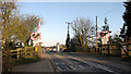 TG2811 : The level crossing on Plumstead Road by Evelyn Simak