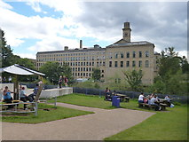 SE1338 : Saltaire:  Salts Mill by Dr Neil Clifton