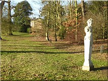 SO8845 : Statue of Pan in Croome Park by Philip Halling