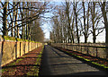 TL6660 : Road near Crawley House by Hugh Venables