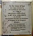 SJ9295 : Memorial to Eva Jane Howe by Gerald England